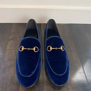 Gucci Velvet Loafers
